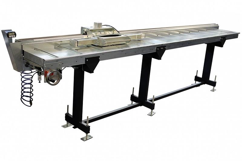 ZIMMER HEAVY A Bahnbreite 350 mm Rollenbahn inkl. Handrad und Digitalanzeige  - Länge 2 Meter bis 8 Meter