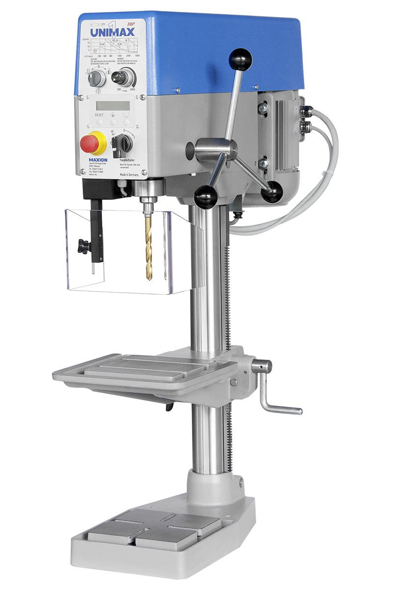 MAXION Tischbohrmaschine UNIMAX 1 TAP  mit integrierter Gewindeschneideinrichtung