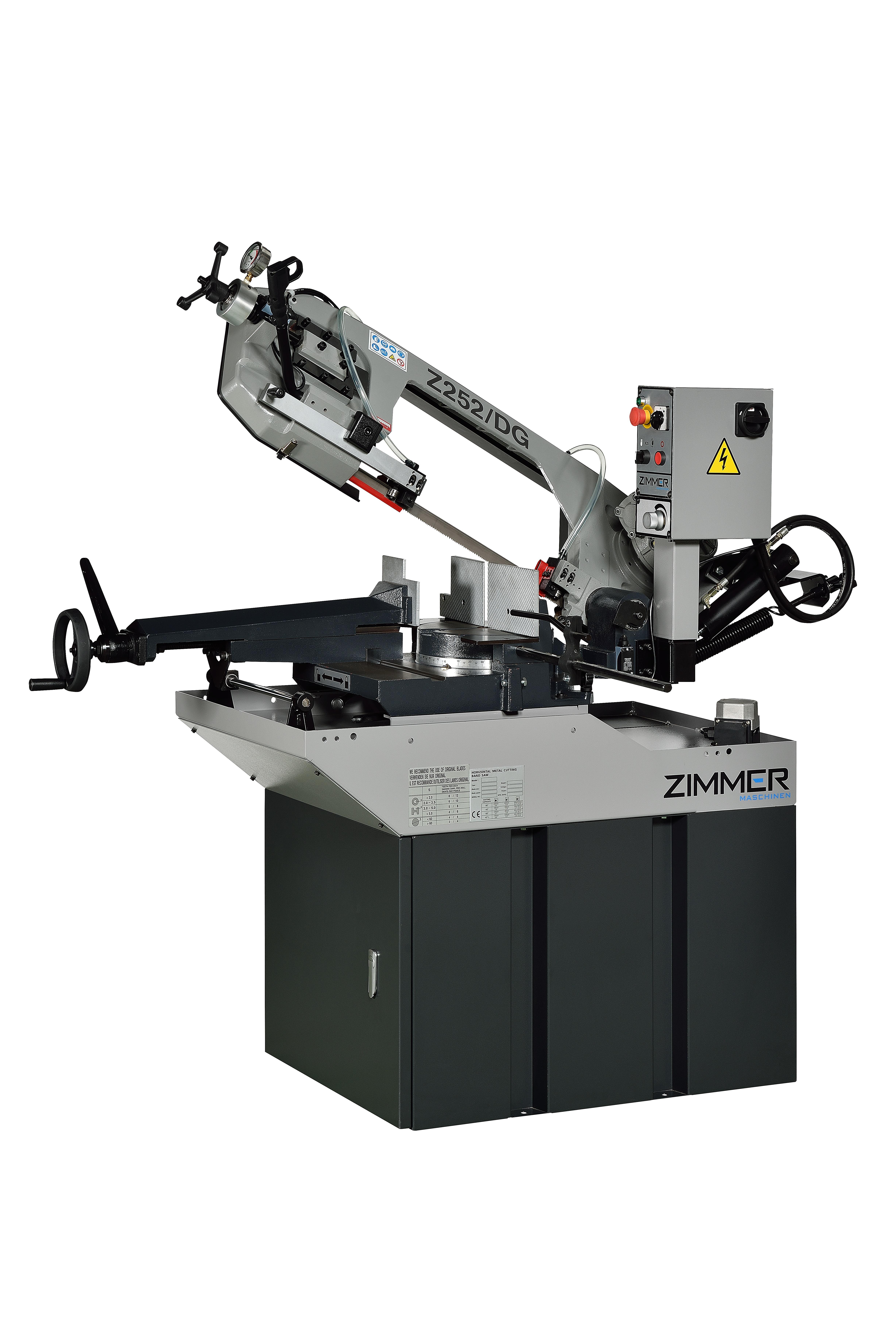Stationäre Metallbandsäge ZIMMER Z252/DG mit Doppelgehrung