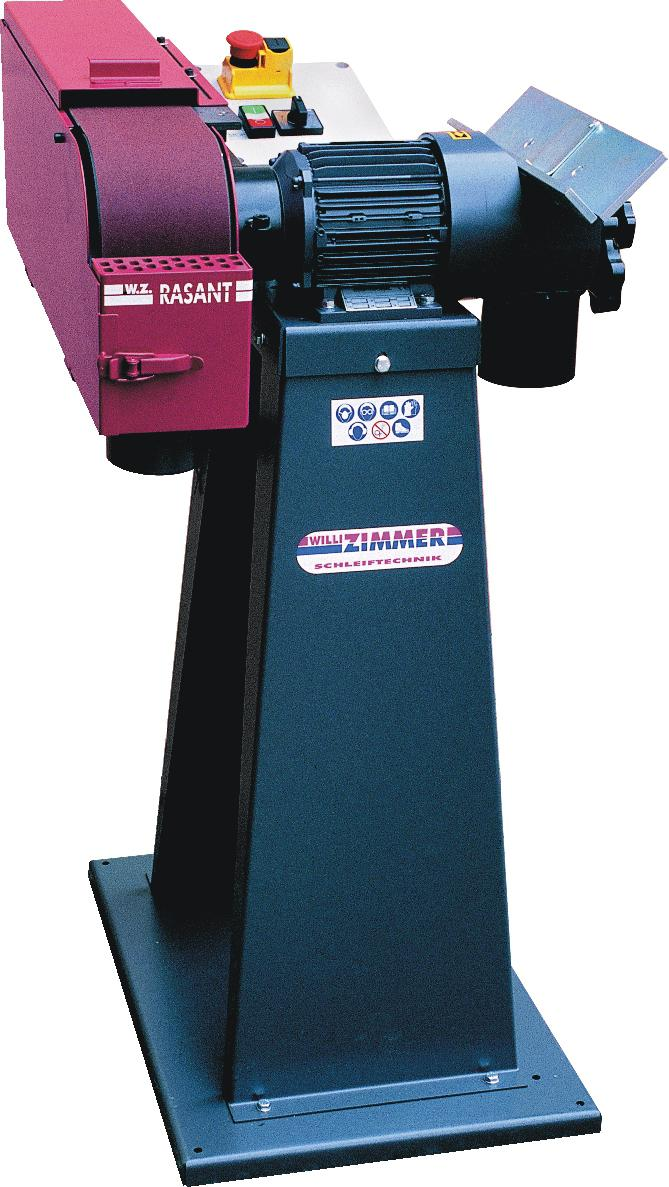 Horizontal- und Vertikalschleifmaschine ZIMMER Rasant 318/2 inkl. Maschinensockel
