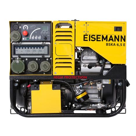 EISEMANN DIN Stromerzeuger BSKA 6,5 EV Silent - Stromerzeuger nach DIN14685-1 sind mit Dreiwegehahn und Isolationsüberwachung ohne Abschaltung ausgestattet