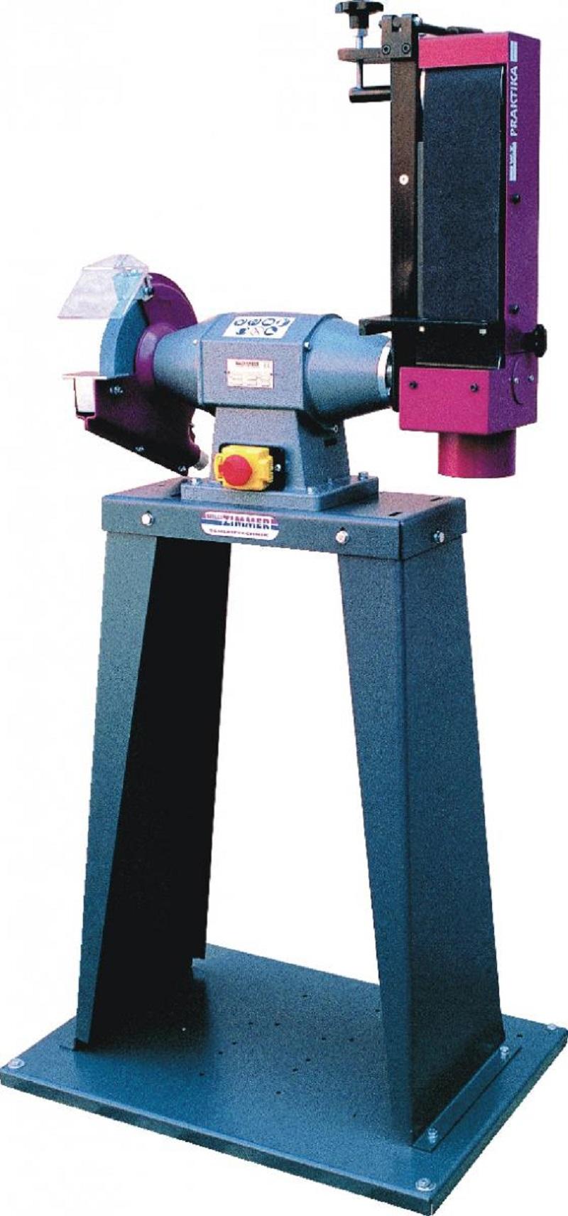Schwenkbare Band- und Scheibenschleifmaschine ZIMMER Praktika 210 Bandmaß 100 x 1000 mm
