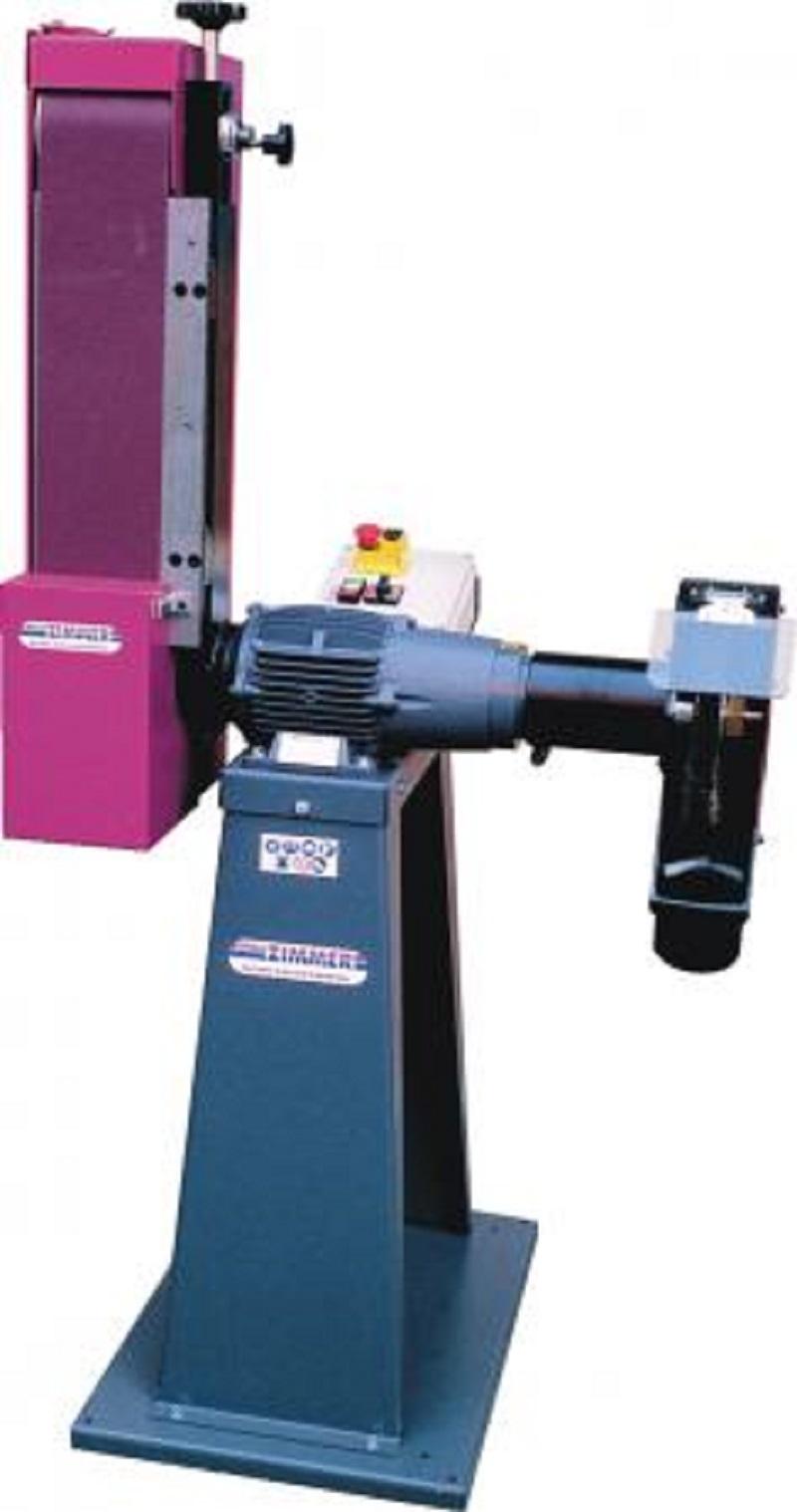 W.Z. Schwenkbare Bandschleif- und Poliermaschine Rasant 363/2 inkl. Maschinensockel Bandmaß 150 x 1750 mm