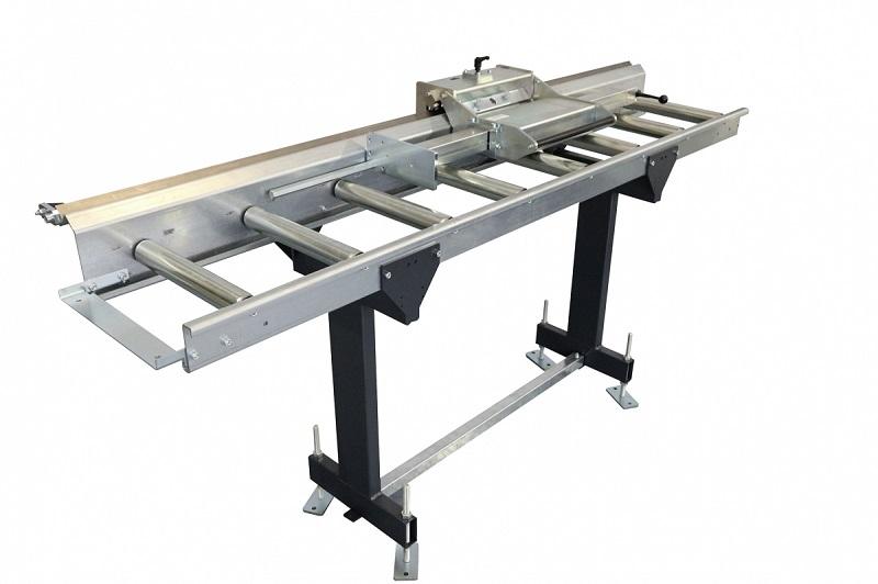 ZIMMER HEAVY B Rollenbahn Bahnbreite 550 mm inkl. Lupe, Maßband und Anschlag - Länge 2 bis 8 Meter