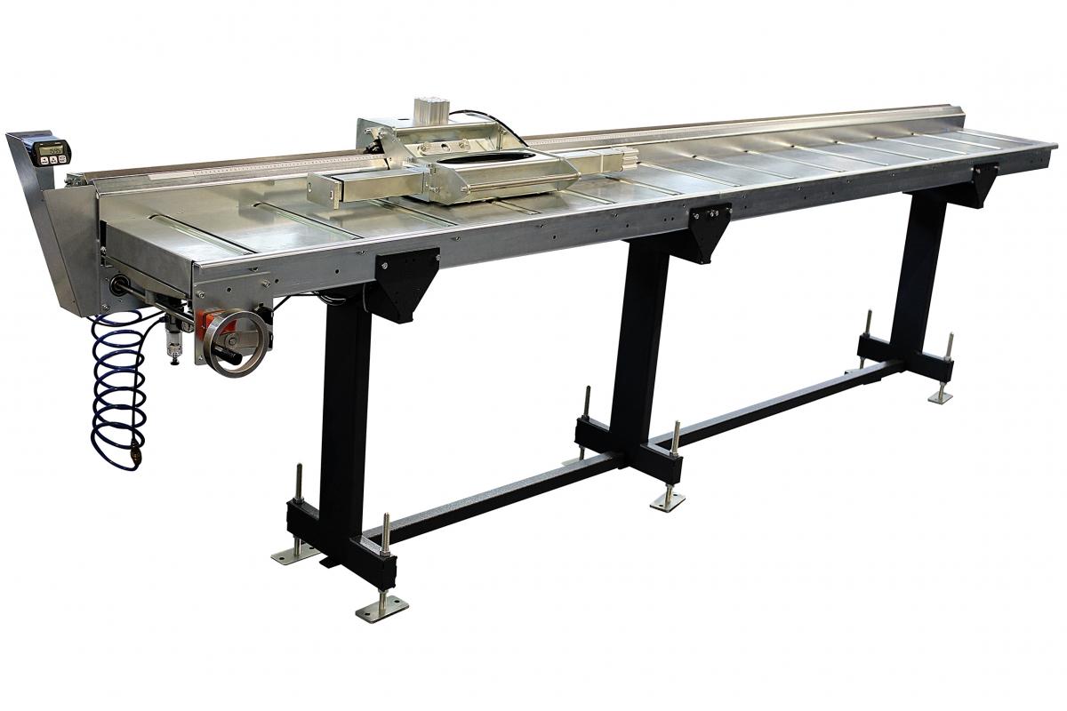 ZIMMER HEAVY A  Bahnbreite 550 mm Rollenbahn inkl. Handrad und Digitalanzeige - Länge 7m